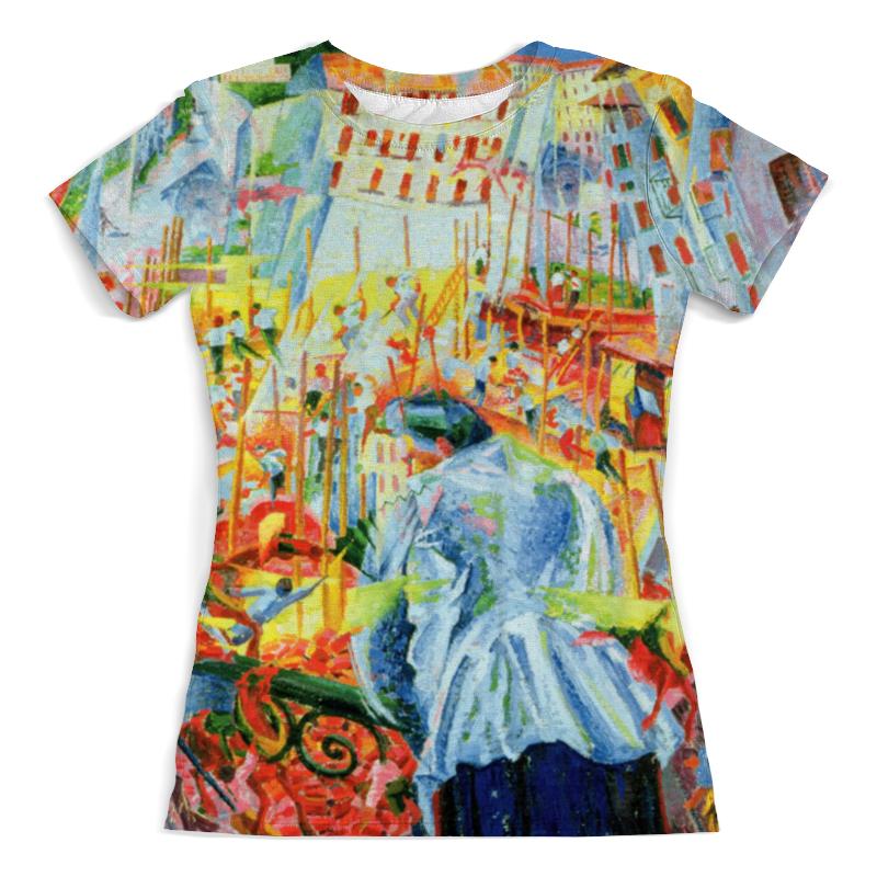 Футболка с полной запечаткой (женская) Printio Улица входит в дом (умберто боччони) футболка с полной запечаткой женская printio осенняя улица