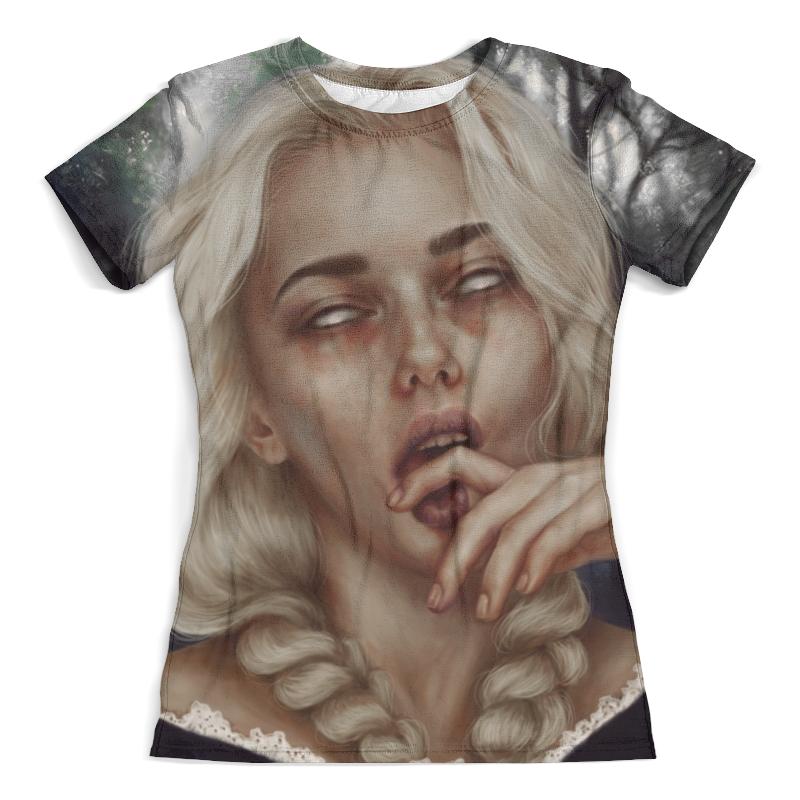 Футболка с полной запечаткой (женская) Printio Gothic girl футболка с полной запечаткой женская printio fashion girl in sketch style