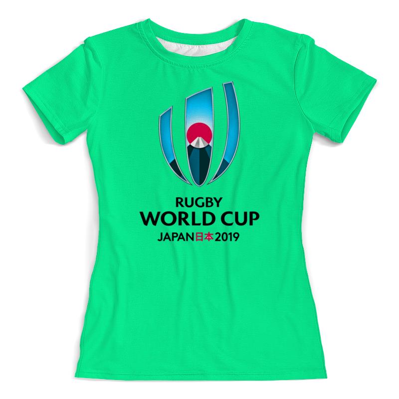 Футболка с полной запечаткой (женская) Printio Кубок мира по регби в японии чемпионат мира по регби 2019 африка 1 победитель утешительного турнира