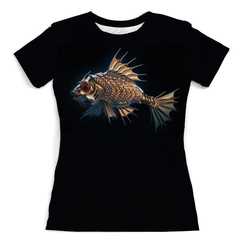 Футболка с полной запечаткой (женская) Printio Большая рыба