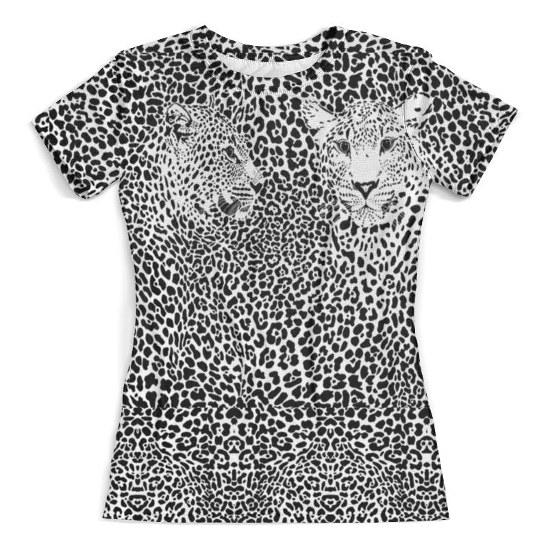 Футболка с полной запечаткой (женская) Printio Леопарды (2) свитшот унисекс с полной запечаткой printio леопарды
