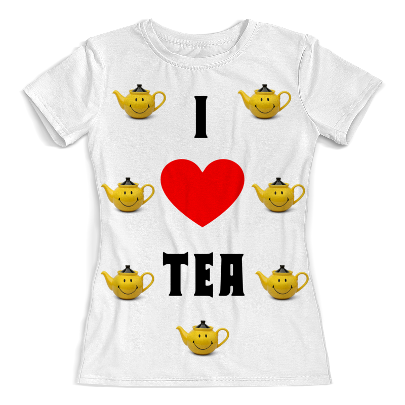 Printio Я люблю чай футболка с полной запечаткой женская printio я люблю иисуса