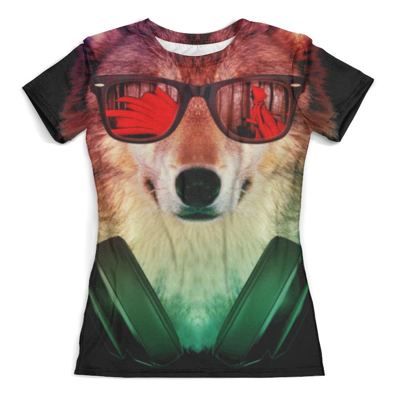 Футболка с полной запечаткой (женская) Printio Волк в очках футболка с полной запечаткой женская printio песик в очках