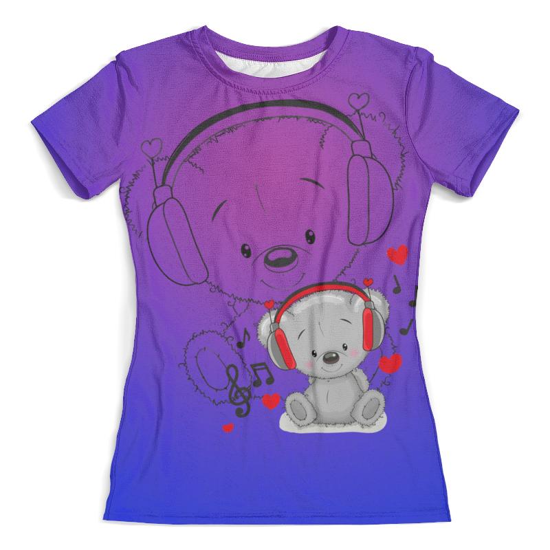 Printio Мишка тедди футболка с полной запечаткой женская printio мишка и бабочки