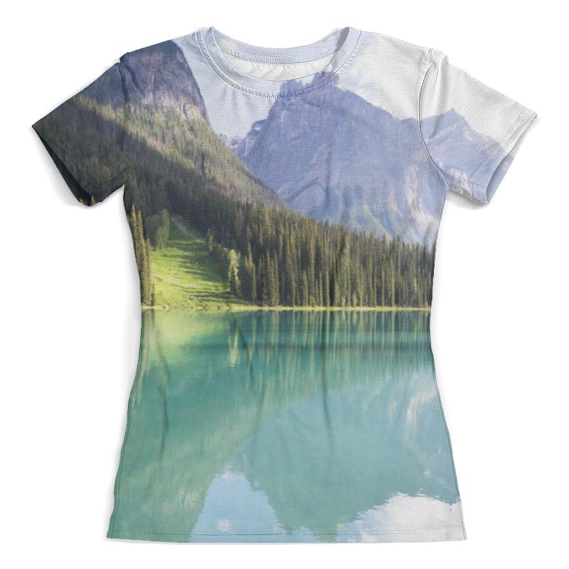 Футболка с полной запечаткой (женская) Printio Прозрачное озеро футболка с полной запечаткой женская printio подземное озеро
