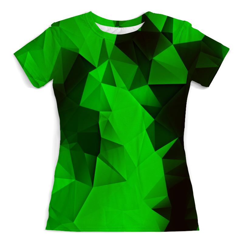 Футболка с полной запечаткой (женская) Printio Зеленые стекла толстовка с полной запечаткой printio зеленые стекла