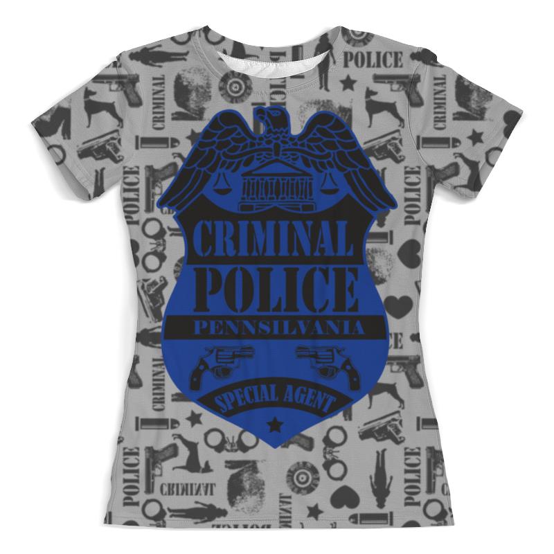 Футболка с полной запечаткой (женская) Printio Criminal police футболка с полной запечаткой женская printio police