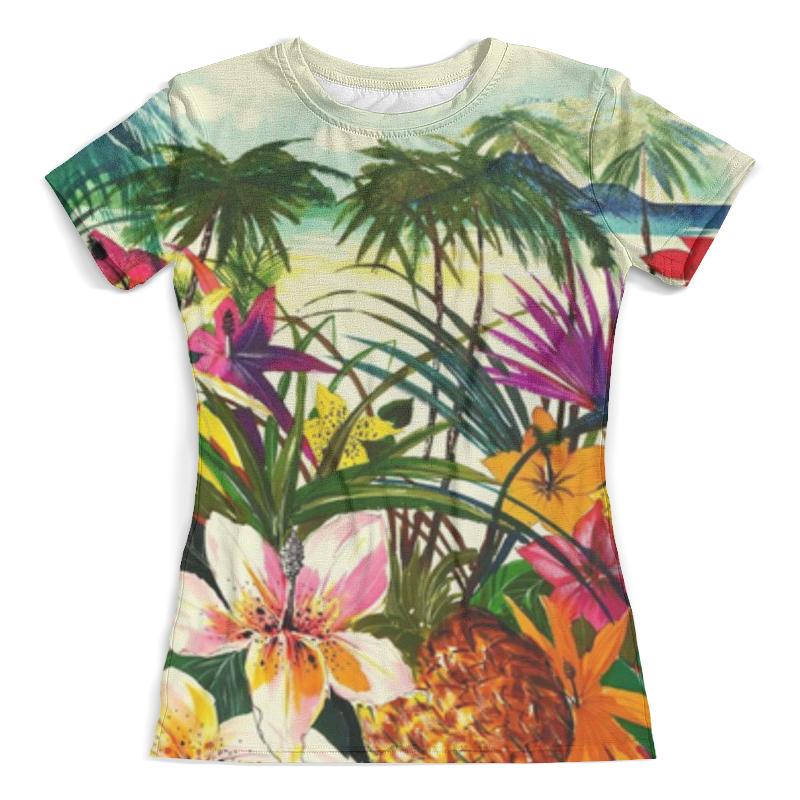 Футболка с полной запечаткой (женская) Printio Тропический принт футболка женская калина принт колибри