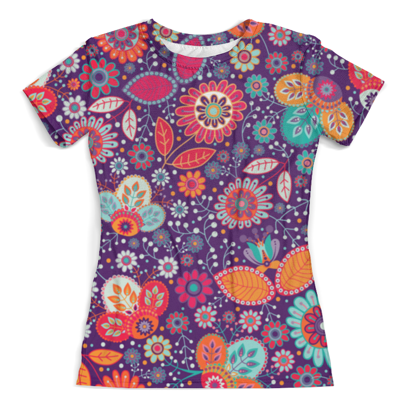 Футболка с полной запечаткой (женская) Printio Цветочная поляна борцовка с полной запечаткой printio цветочная поляна