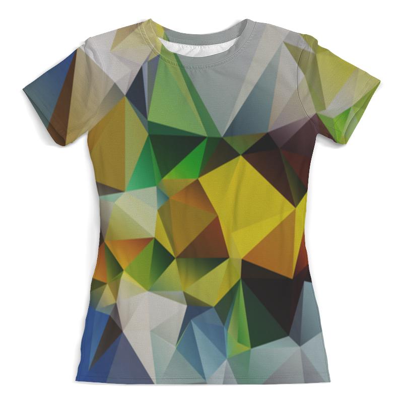 Футболка с полной запечаткой (женская) Printio Polygonal metal crossbar polygonal mirrored sunglasses