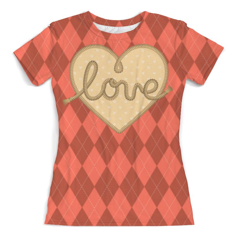 Фото - Printio Ромбы и сердце футболка с полной запечаткой женская printio ромбы