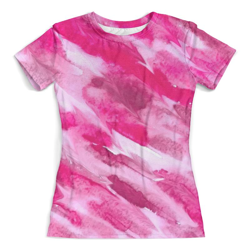 Футболка с полной запечаткой (женская) Printio Watercolor pink blurs