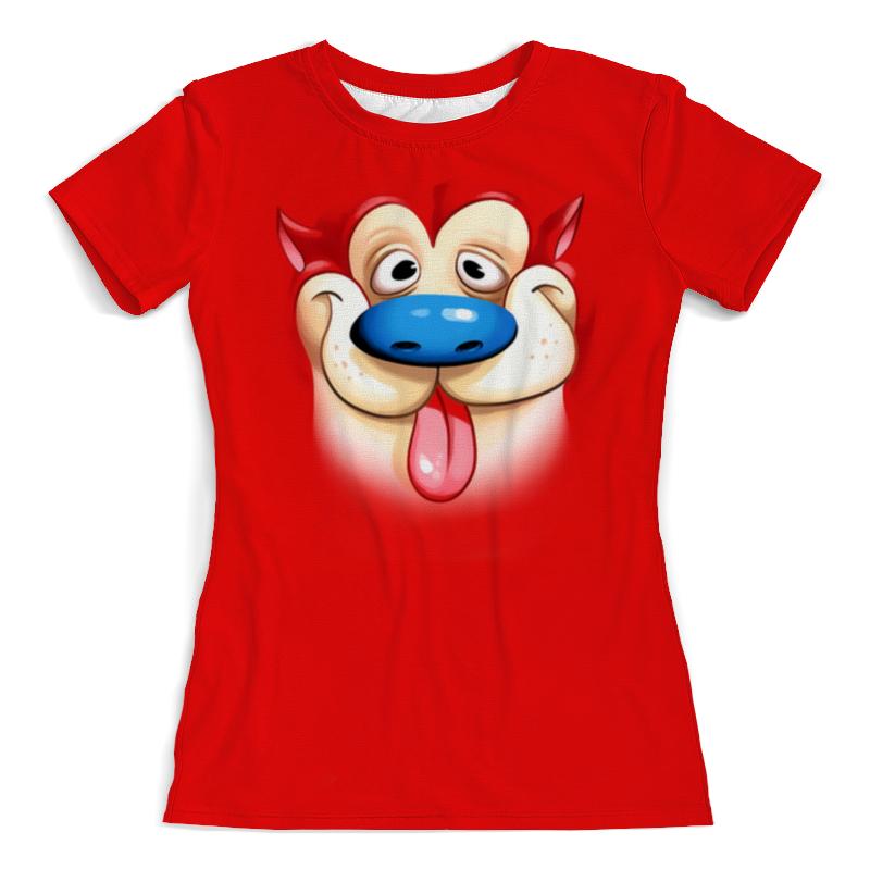 Футболка с полной запечаткой (женская) Printio Пес рен (1) футболка с полной запечаткой женская printio ритм 1 робер делоне