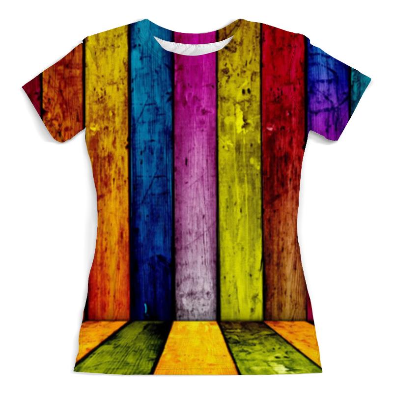 Футболка с полной запечаткой (женская) Printio Радуга. цвета жизни футболка с полной запечаткой мужская printio радуга цвета жизни