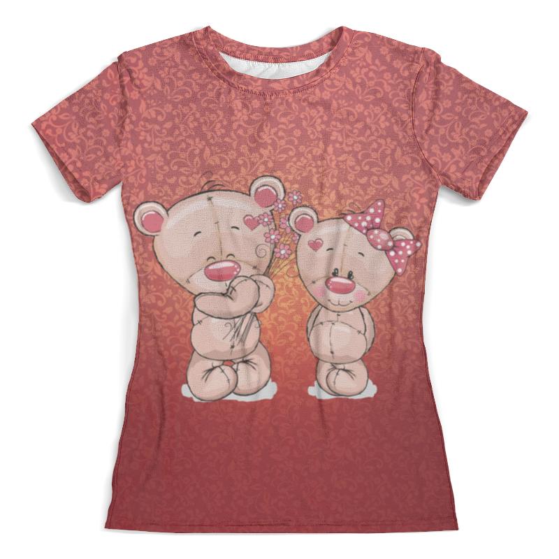 Футболка с полной запечаткой (женская) Printio Влюбленные мишки тедди. парные футболки. футболка с полной запечаткой мужская printio влюбленные птички парные футболки