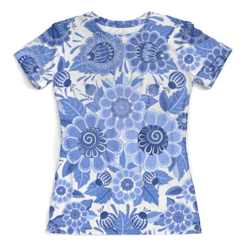 Футболка с полной запечаткой (женская) Printio Blue ornaments floral футболка женская dakine floral hawaii yellow