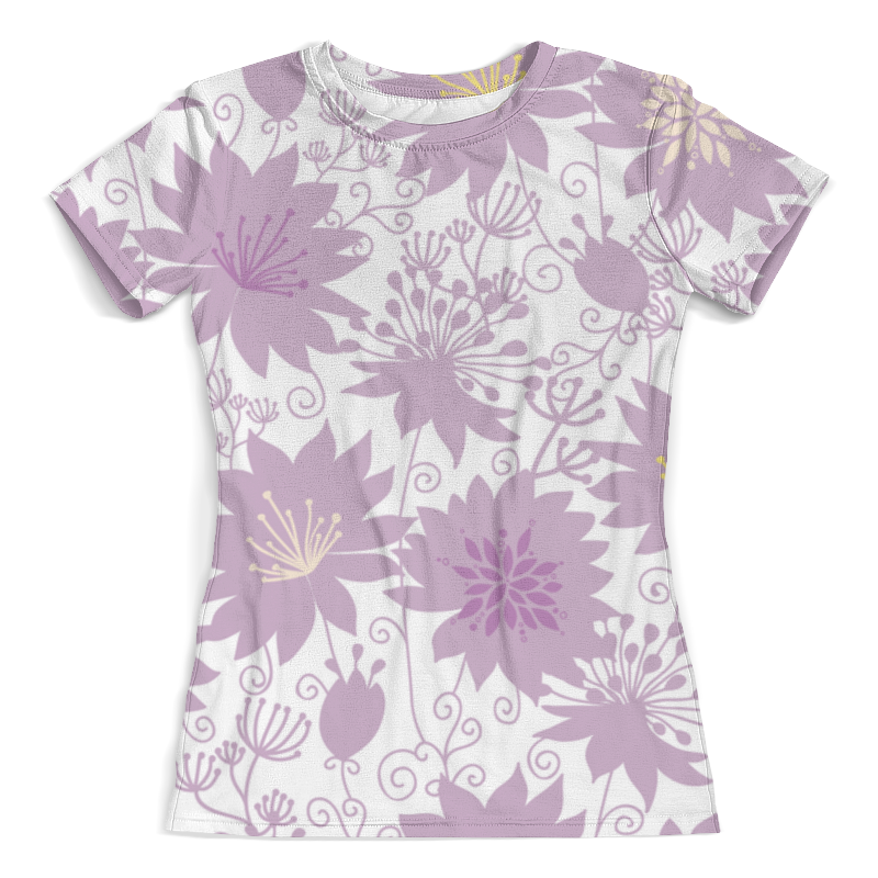 Футболка с полной запечаткой (женская) Printio Фиолетовые цветы футболка с полной запечаткой женская printio фиолетовые линии