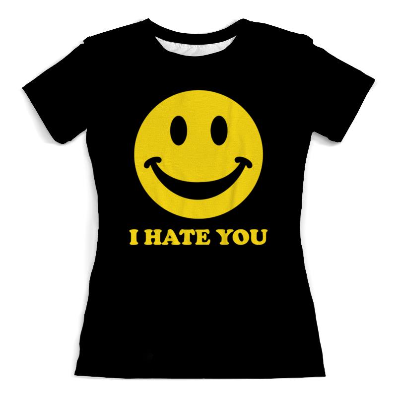 Printio I hate you футболка с полной запечаткой женская printio i hate christmas