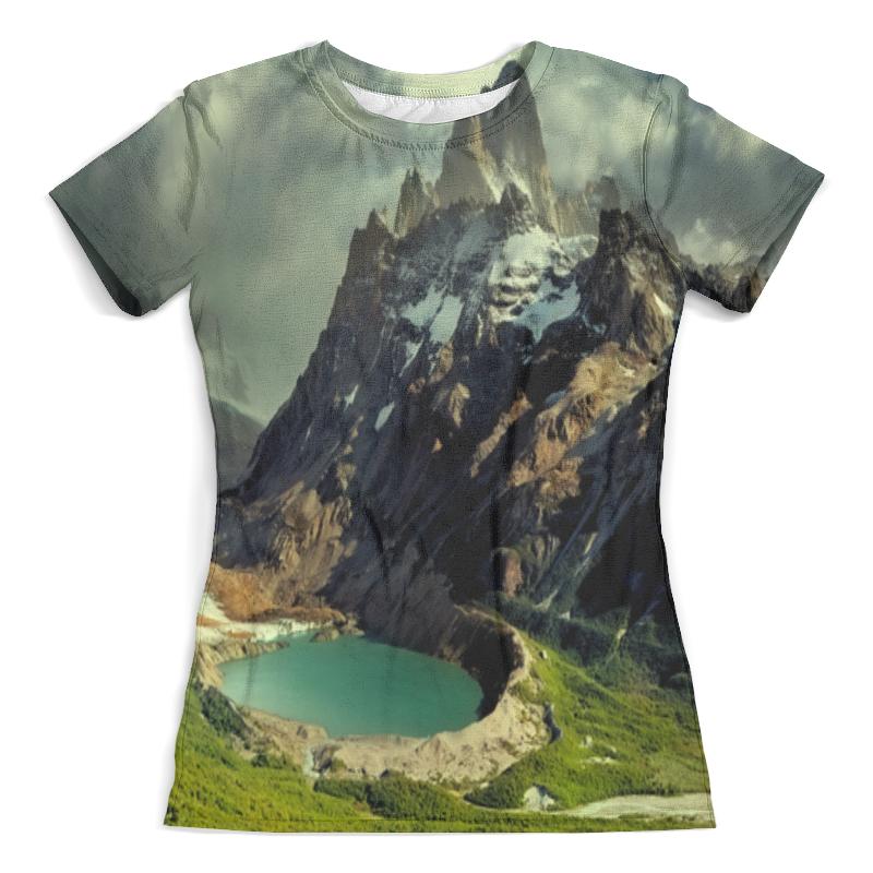 Футболка с полной запечаткой (женская) Printio Озеро футболка с полной запечаткой женская printio подземное озеро