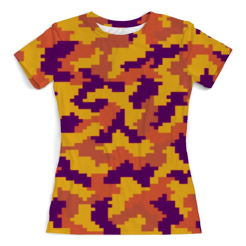 Футболка с полной запечаткой (женская) Printio Яркий камуфляж футболка с полной запечаткой мужская printio яркий камуфляж