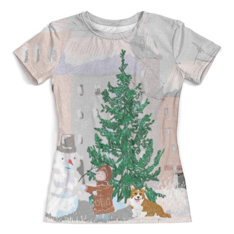 Футболка с полной запечаткой (женская) Printio Новогодний сюрприз 2 футболка киндер сюрприз для беременных