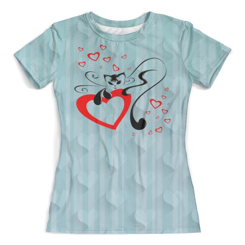 Футболка с полной запечаткой (женская) Printio Кошечка футболка с полной запечаткой женская printio чёрная кошечка
