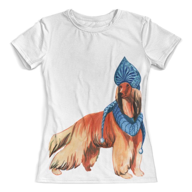 Футболка с полной запечаткой (женская) Printio Акварельная новогодняя собака футболка с полной запечаткой мужская printio акварельная новогодняя забавная собака