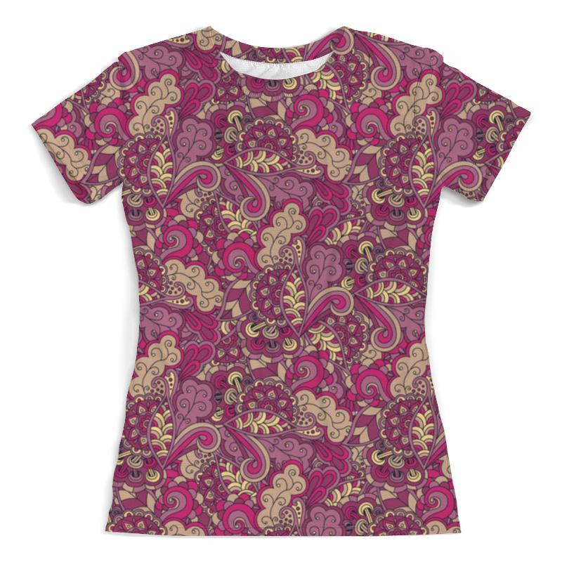 Футболка с полной запечаткой (женская) Printio Розовый дудл узор футболка с полной запечаткой женская printio розовый узор