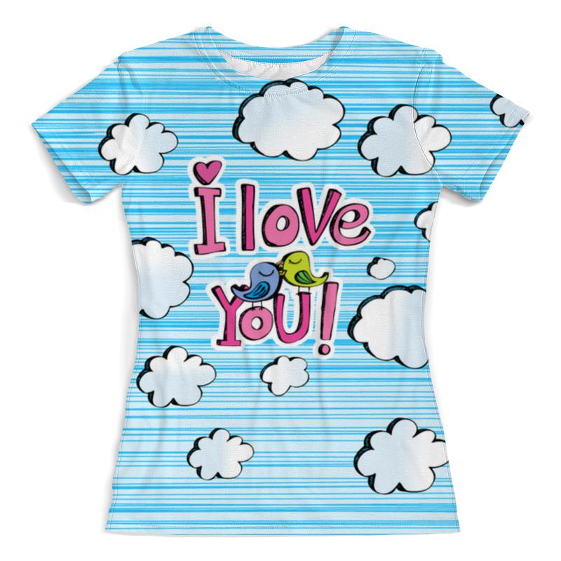 Футболка с полной запечаткой (женская) Printio Птички в облачках футболка с полной запечаткой женская printio набережная в крыму константин коровин