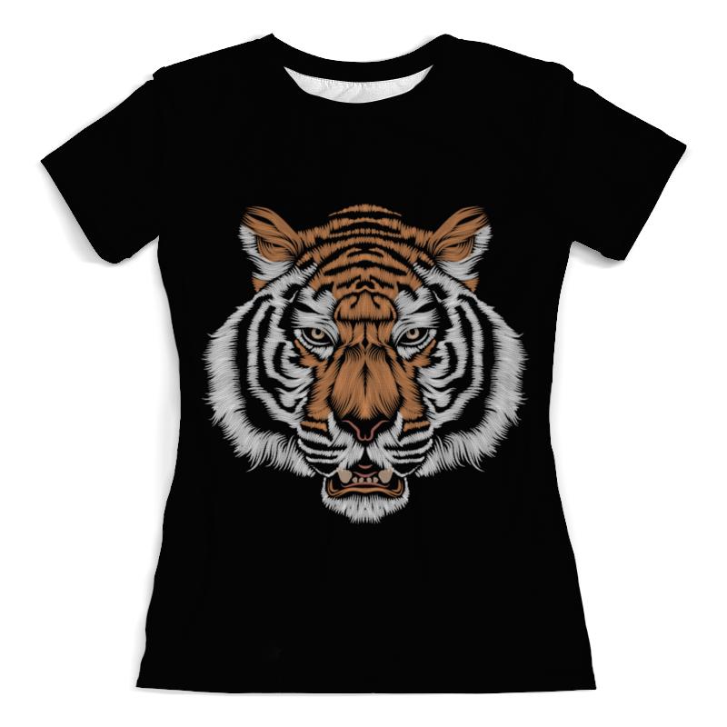 Футболка с полной запечаткой (женская) Printio Взгляд тигра хоук к в поисках тигра