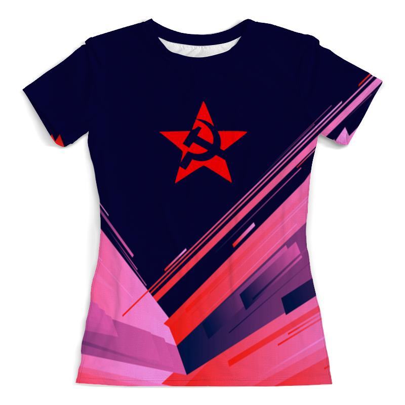 Футболка с полной запечаткой (женская) Printio Звезда ссср свитшот унисекс с полной запечаткой printio звезда ссср