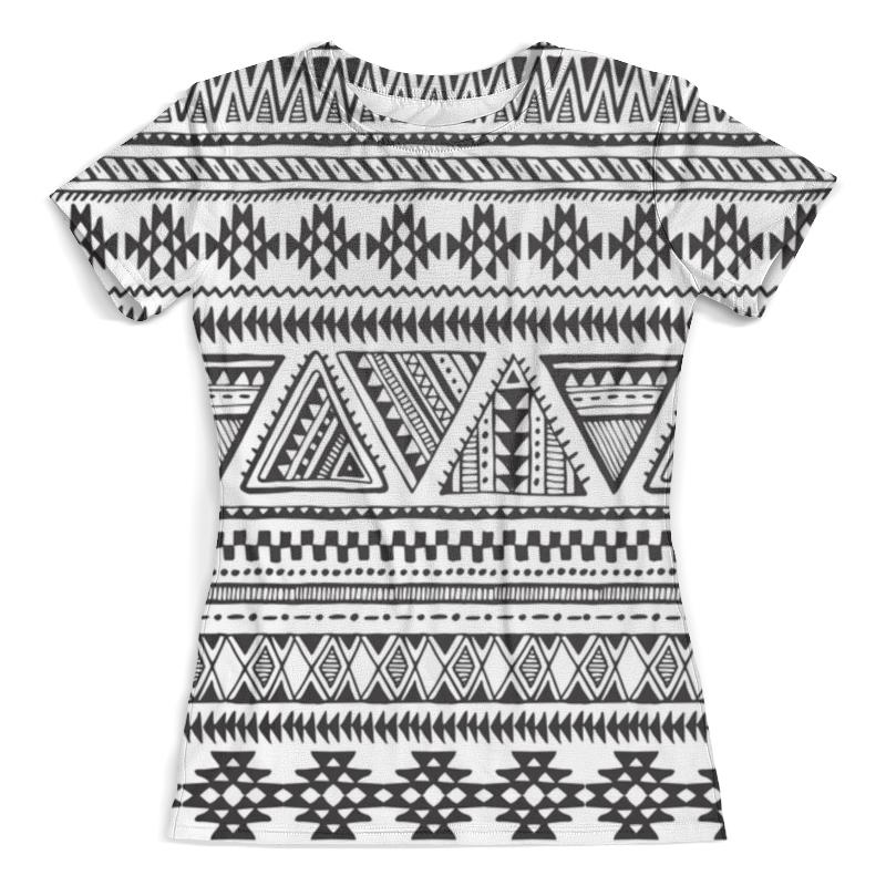 Футболка с полной запечаткой (женская) Printio Черно-белая графика футболка женская белая