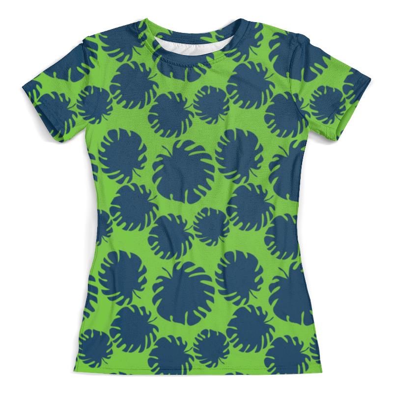 Футболка с полной запечаткой (женская) Printio Тропические листья футболка с полной запечаткой женская printio модная львица
