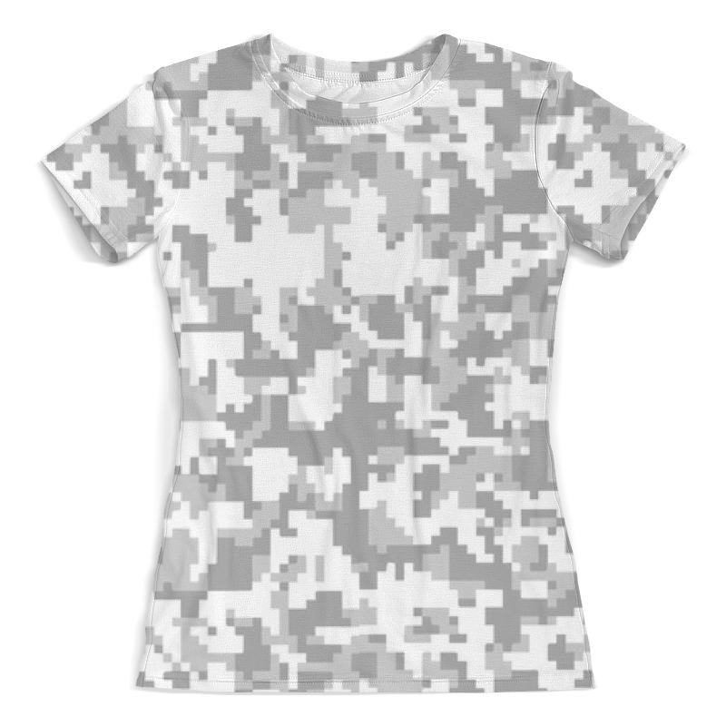 Футболка с полной запечаткой (женская) Printio Камуфляж пиксели (белый) футболка с полной запечаткой женская printio белый горох