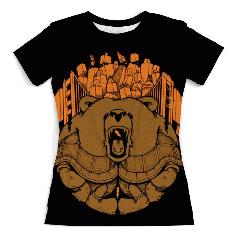Футболка с полной запечаткой (женская) Printio Bear city / медведь (женская) футболка с полной запечаткой  женская