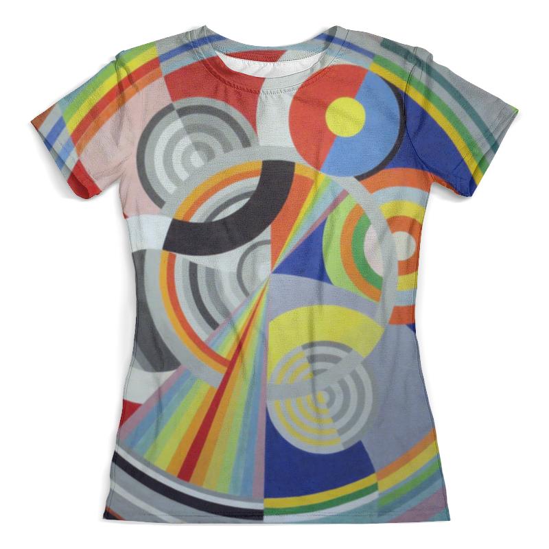 Футболка с полной запечаткой (женская) Printio Ритм № 1 (робер делоне) футболка с полной запечаткой мужская printio обнажённая с книгой робер делоне