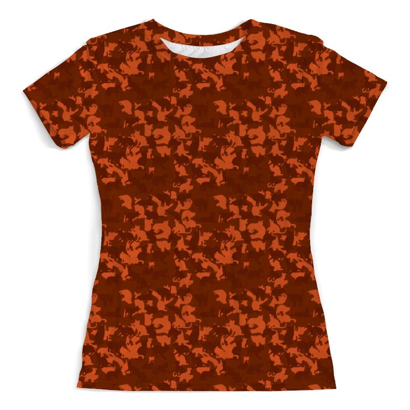 Футболка с полной запечаткой (женская) Printio Кошачий камуфляж футболка с полной запечаткой женская printio кошачий концерт