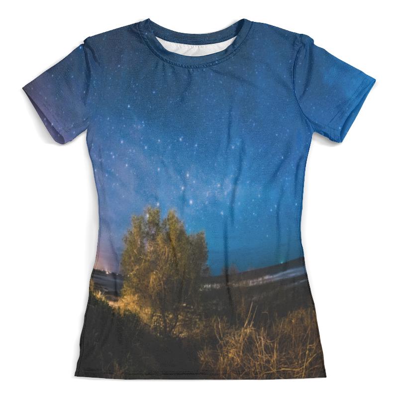Футболка с полной запечаткой (женская) Printio Звездное небо футболка с полной запечаткой женская printio свечки в небо