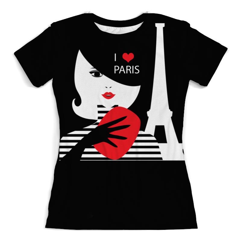 Футболка с полной запечаткой (женская) Printio Француженка, фэшн иллюстрация футболка трикотажная фэшн черная