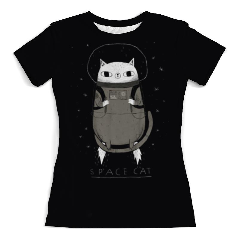 Футболка с полной запечаткой (женская) Printio Space cat
