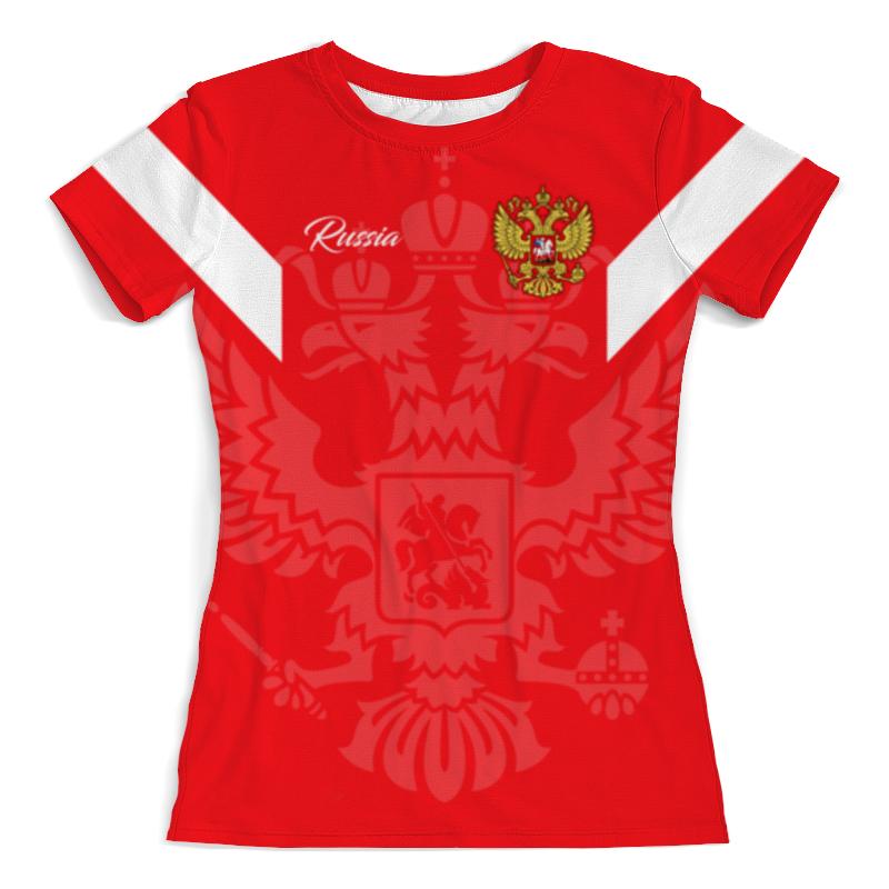 Футболка с полной запечаткой (женская) Printio Сборная россии футболка с полной запечаткой для мальчиков printio сборная россии по футболу