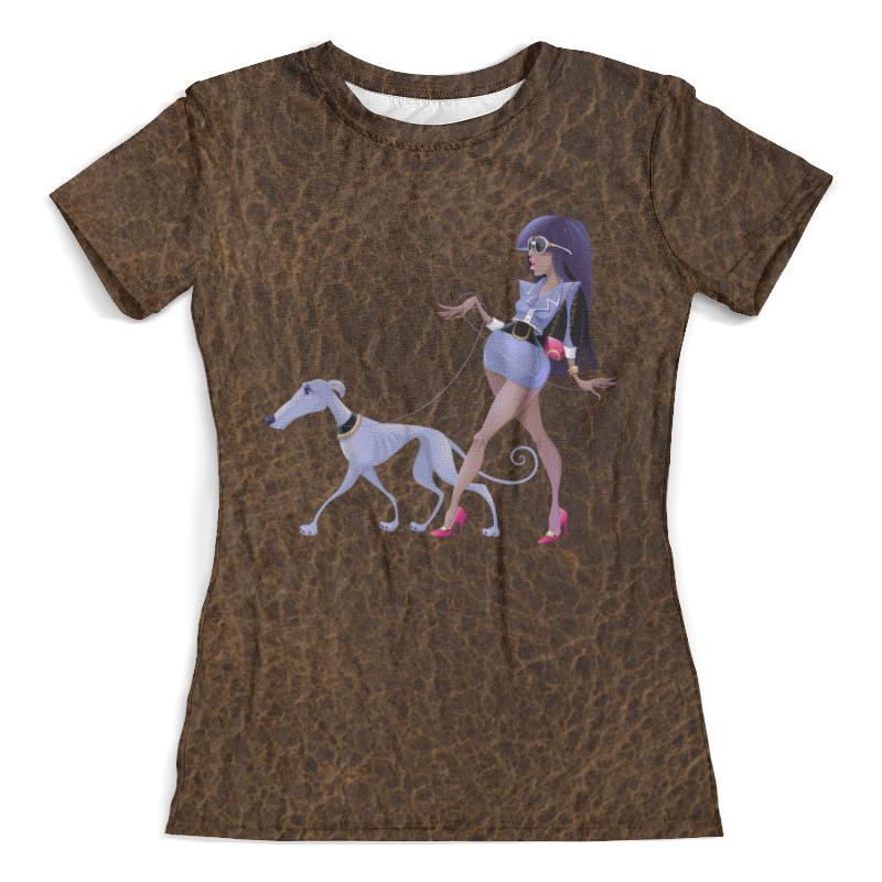 Футболка с полной запечаткой (женская) Printio Леди с собакой футболка с полной запечаткой женская printio battlefield v