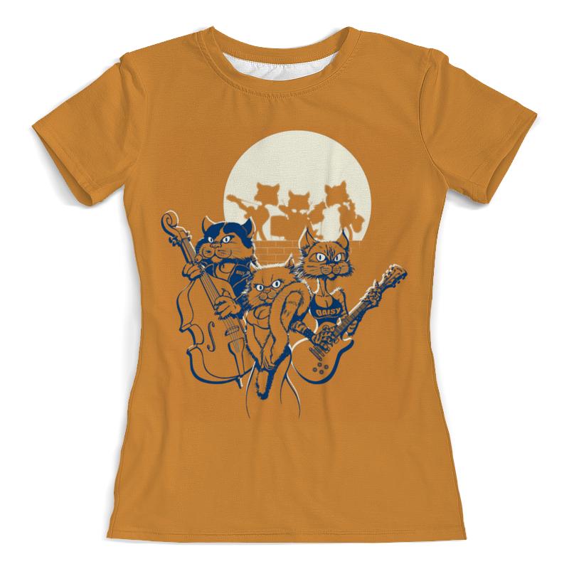 Футболка с полной запечаткой (женская) Printio Кошачий концерт футболка с полной запечаткой женская printio кошачий концерт