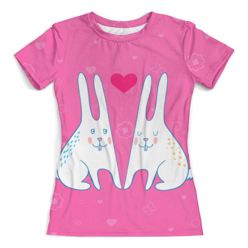 Футболка с полной запечаткой (женская) Printio Милые зайцы футболка с полной запечаткой мужская printio зайцы