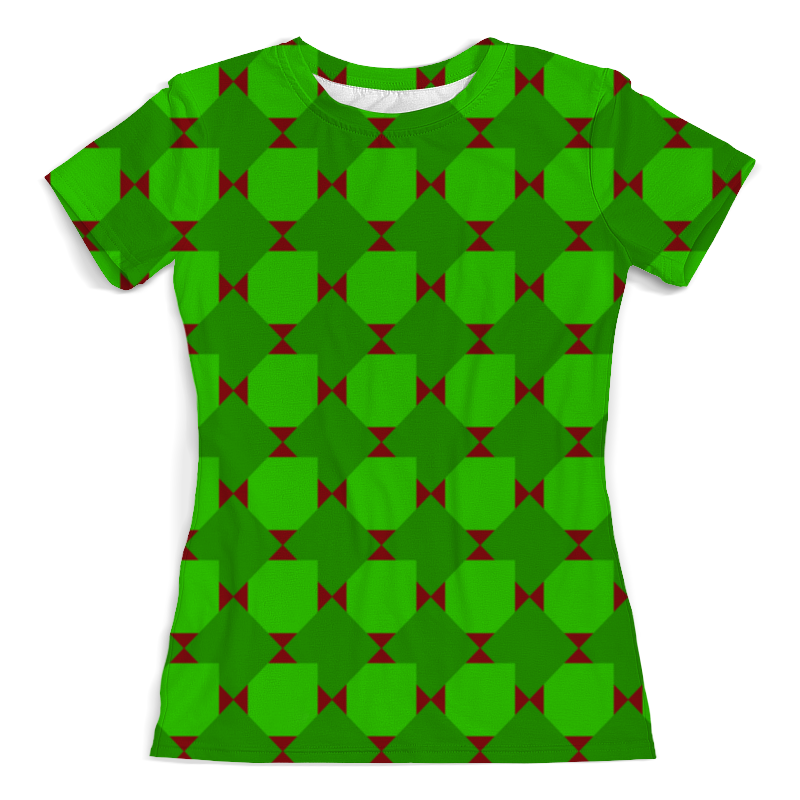 Фото - Футболка с полной запечаткой (женская) Printio Зеленые ромбы толстовка с полной запечаткой printio зеленые ромбы