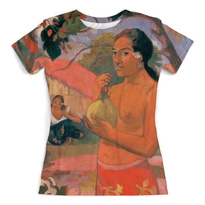 Футболка с полной запечаткой (женская) Printio Женщина, держащая плод (поль гоген) футболка с полной запечаткой мужская printio натюрморт с конской головой поль гоген