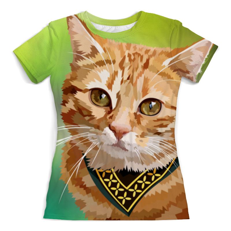Футболка с полной запечаткой (женская) Printio Рыжий кот футболка с полной запечаткой женская printio кот граф