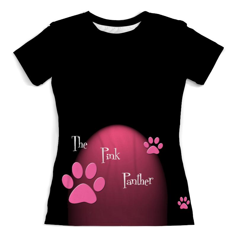 Футболка с полной запечаткой (женская) Printio The pink panther рубашка brubeck xl pink ls01430 женская