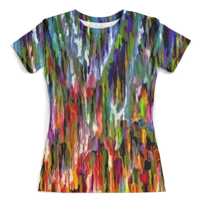 Футболка с полной запечаткой (женская) Printio Всплеск красок футболка с полной запечаткой для девочек printio всплеск красок
