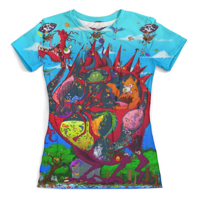 Футболка с полной запечаткой (женская) Printio Пираты и дракон футболка с полной запечаткой женская printio battlefield v